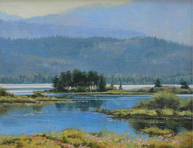 Darcie Peet Painting Blue Tranquility Oil on Linen