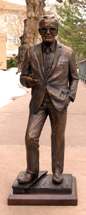 Deborah Copenhaver-Fellows Sculpture Barry Goldwater Maquette Bronze