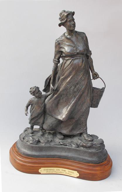 Deborah Copenhaver-Fellows Sculpture Evening on the Trail Bronze
