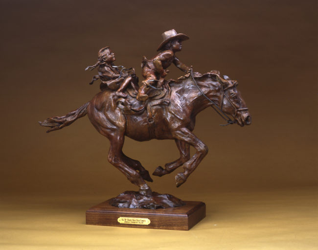 Deborah Copenhaver-Fellows Sculpture My Hero's Have Always Been Cowboys Bronze