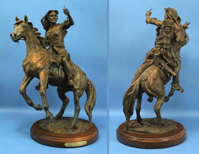 Deborah Copenhaver-Fellows Sculpture New Medicine Arrival of Black Robe Bronze
