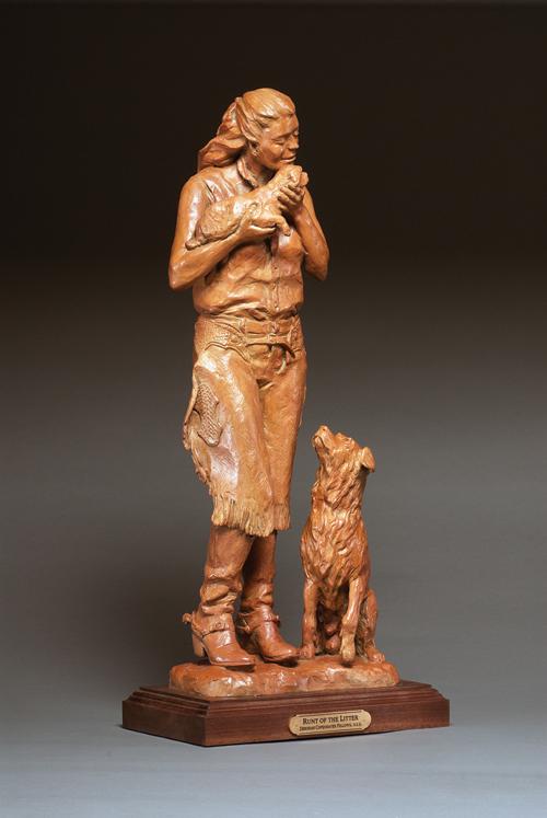 Deborah Copenhaver-Fellows Sculpture Runt of the Litter Bronze