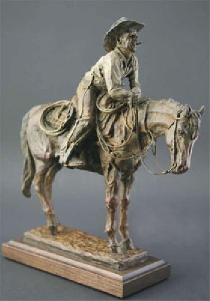 Deborah Copenhaver-Fellows Sculpture Watching the Barrier Bronze