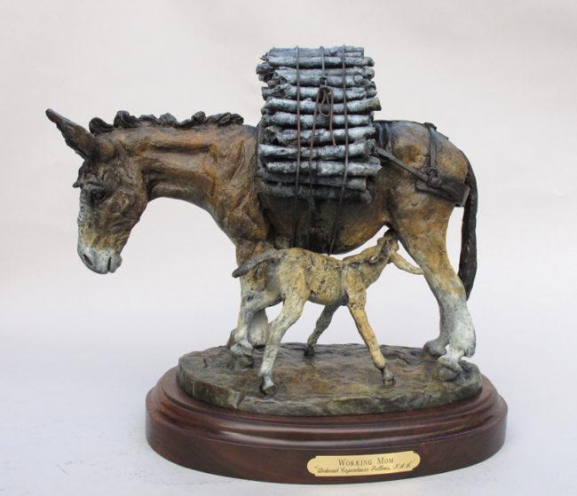 Deborah Copenhaver-Fellows Sculpture Working Mom Bronze