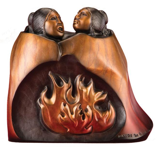 Doug Hyde Sculpture Campfire Chat Bronze