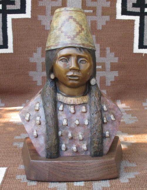 Doug Hyde Sculpture Corn Husk Hat Bronze