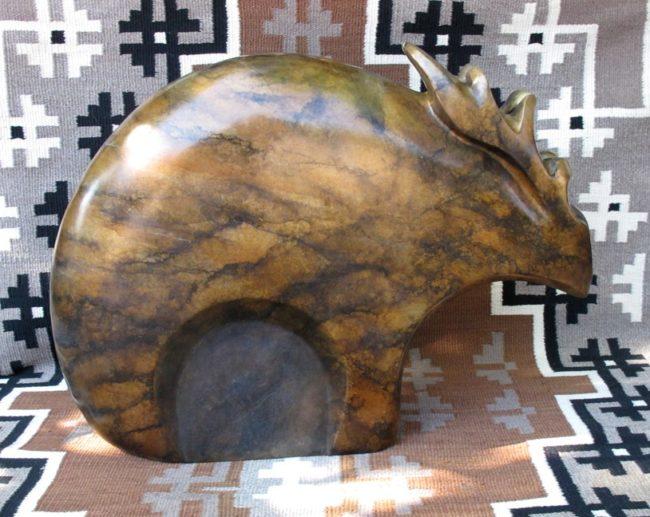 Doug Hyde Sculpture Elk Fetish Bronze