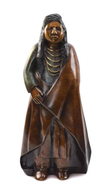 Doug Hyde Sculpture Hear Me Oh My Chiefs Bronze