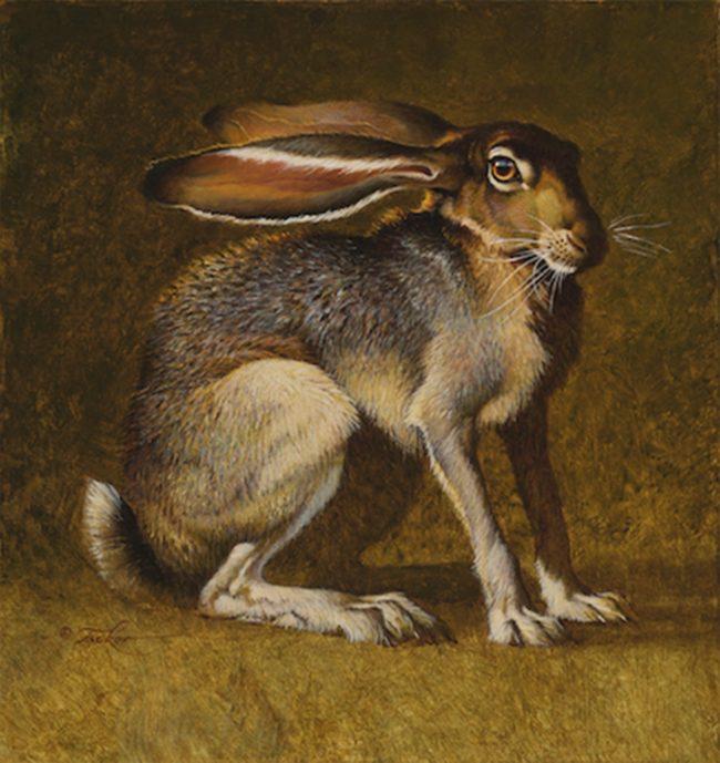 Ezra Tucker Painting Another Wild Hare Acrylic on Panel