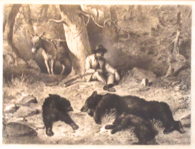 Felix Darley Printmaking Three Bears Etching