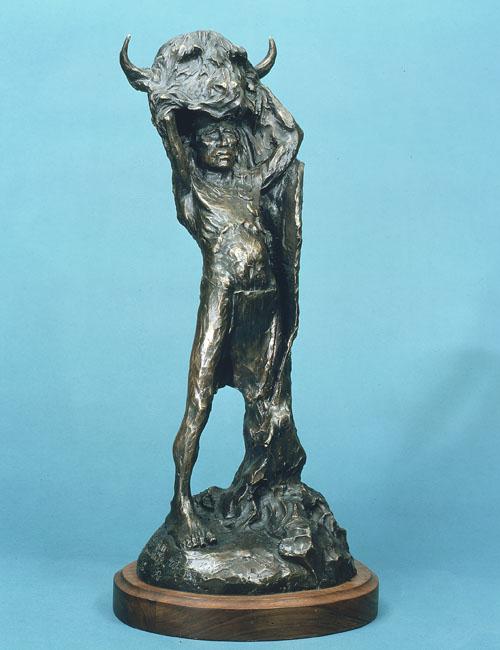 Fritz White CA Sculpture Buffalo Dancer Bronze