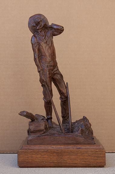 Fritz White CA Sculpture End of the Open Range Bronze
