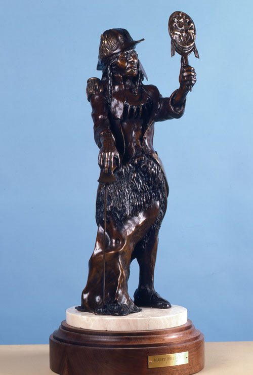 Fritz White CA Sculpture Many Presents Bronze