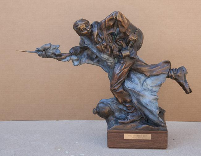 Fritz White CA Sculpture The Drummer Boy Bronze