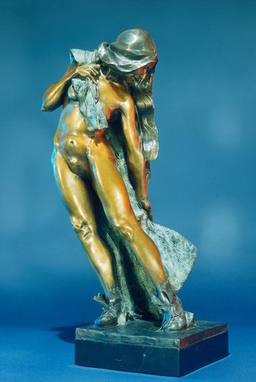 Fritz White CA Sculpture The New Blanket Bronze