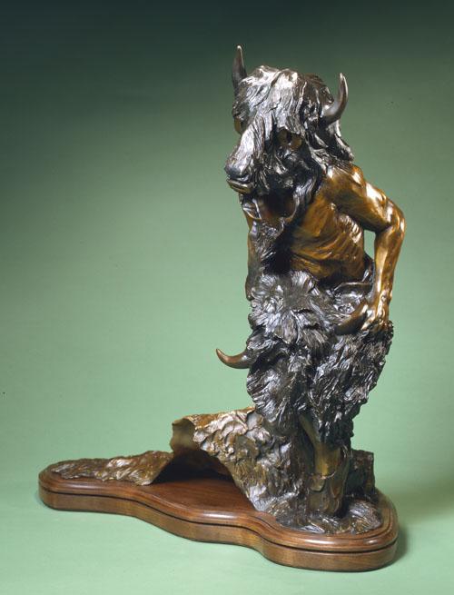 Fritz White CA Sculpture The Sacred Robe Bronze