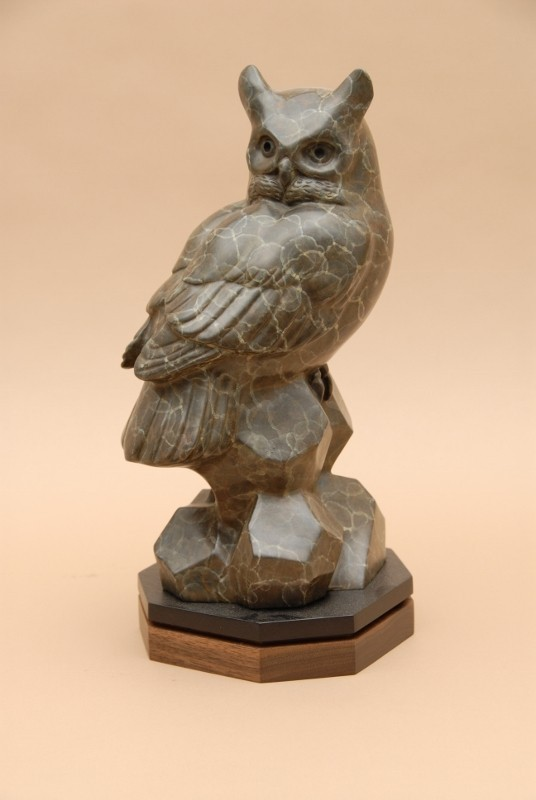 Gerald Balciar Sculpture Give a Hoot Bronze