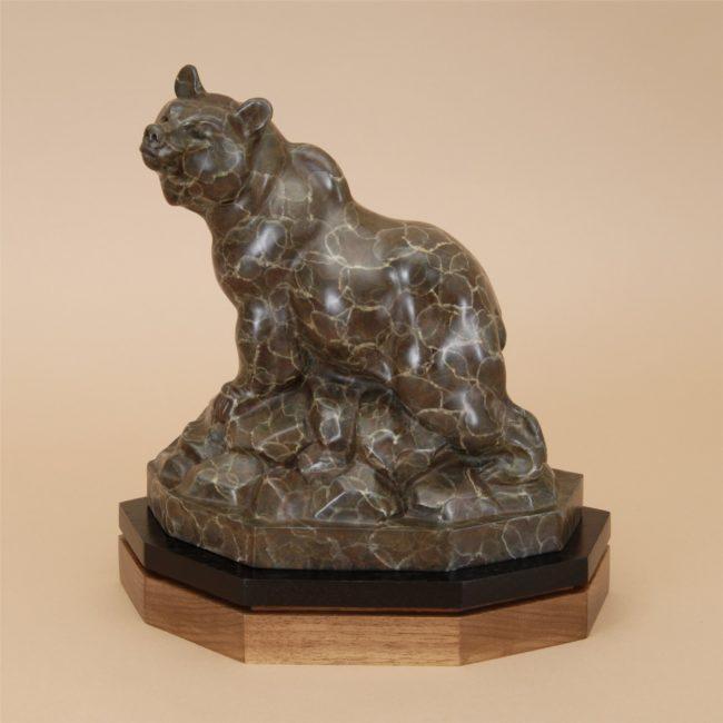 Gerald Balciar Sculpture Griz Bronze