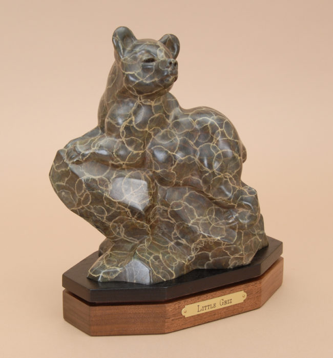Gerald Balciar Sculpture Little Griz Bronze