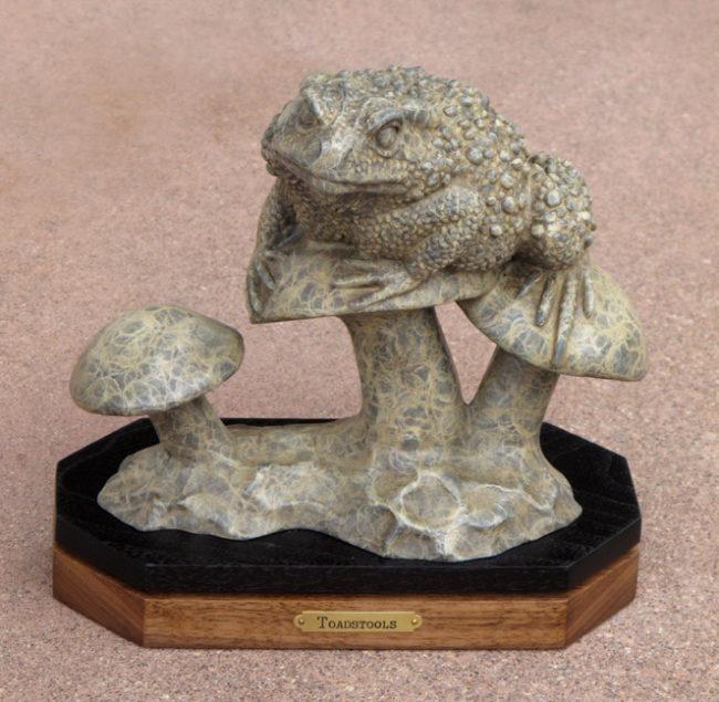 Gerald Balciar Sculpture Toadstools Bronze