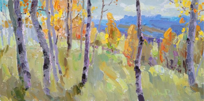 Gregory Packard Painting Fall Colors Oil on Panel