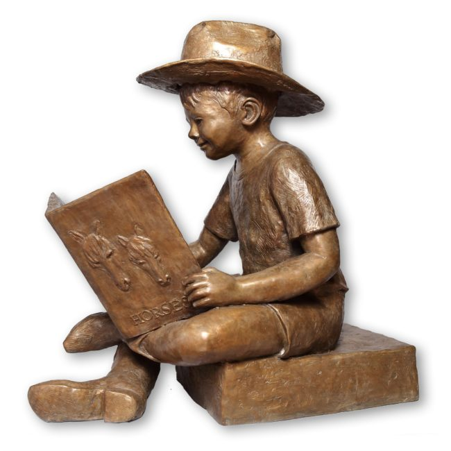 Jane Rankin Sculpture Buckaroo Bronze