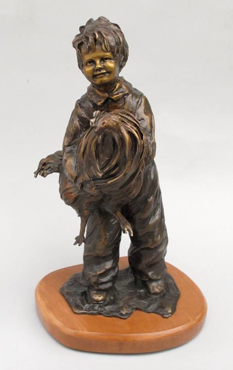Jane Rankin Sculpture Cockadoodledoo Bronze