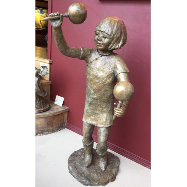 Jane Rankin Sculpture Lilly Bronze