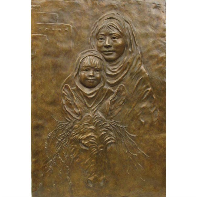Jane Rankin Sculpture Market Day Bronze