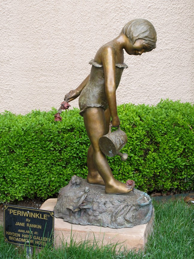 Jane Rankin Sculpture Periwinkle Bronze