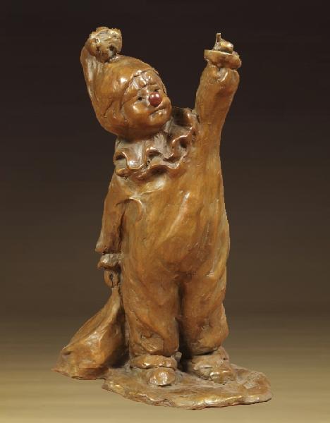 Jane Rankin Sculpture Trick or Treat Bronze