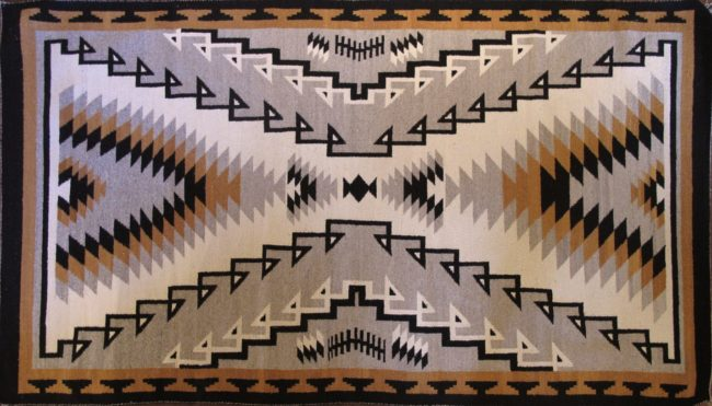 Navajo Weaving Textiles Eastern Reservation Style (Beiges) Weaving