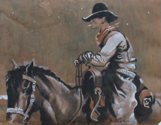 Philip Goodwin  Cowboy at Night