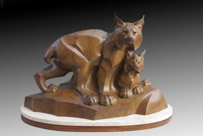 Rosetta Sculpture Lynx Legacy Bronze