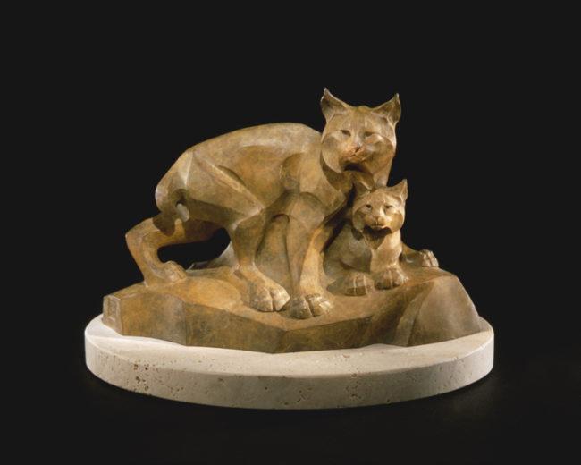 Rosetta Sculpture Lynx Legacy Maquette Bronze