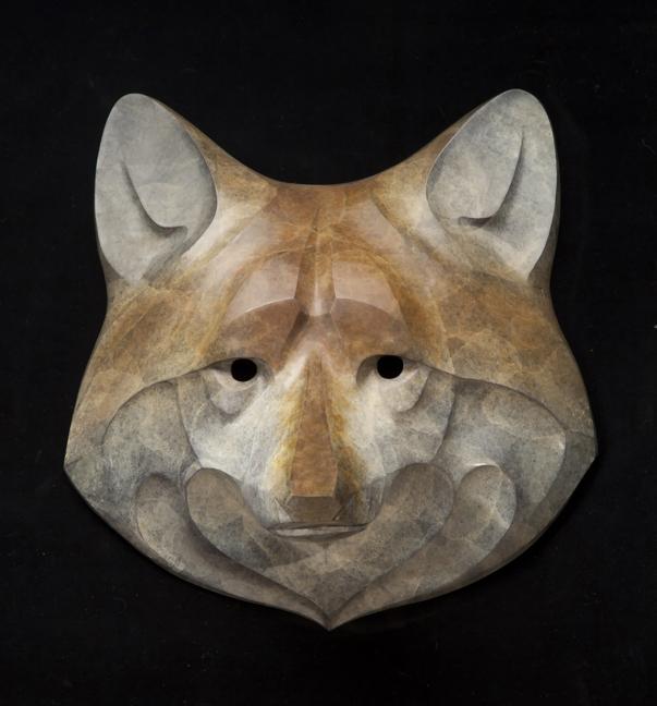 Rosetta Sculpture Wolf Mask Bronze