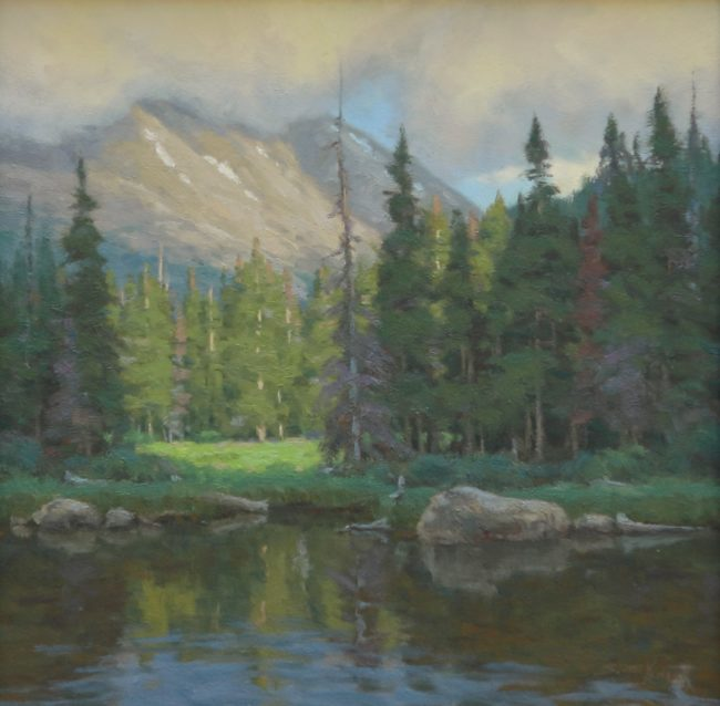 Scott Yeager Painting Clearing Weather Oil on Board