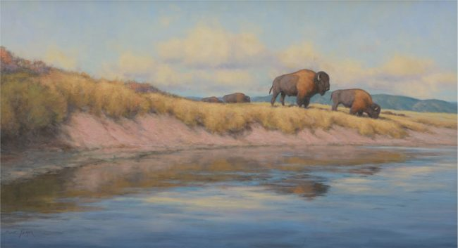 Scott Yeager Painting River's Edge Oil on Canvas