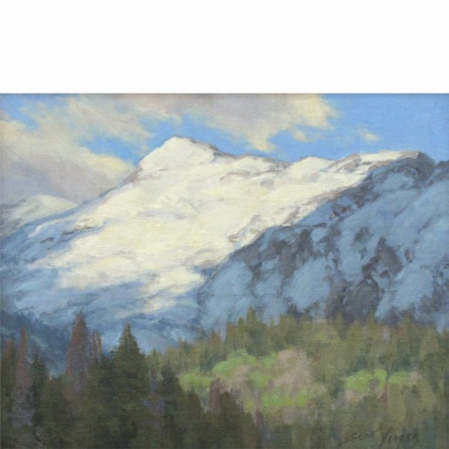 Scott Yeager Painting Sunshine on Snow Oil on Board