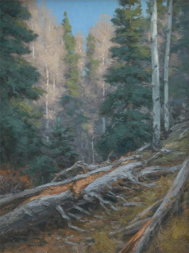 Scott Yeager Painting The Elk Woods Oil on Board