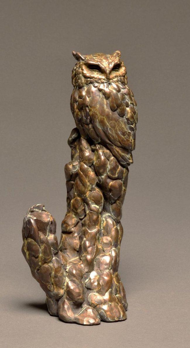 Stefan Savides Sculpture Graveyard Shift Bronze
