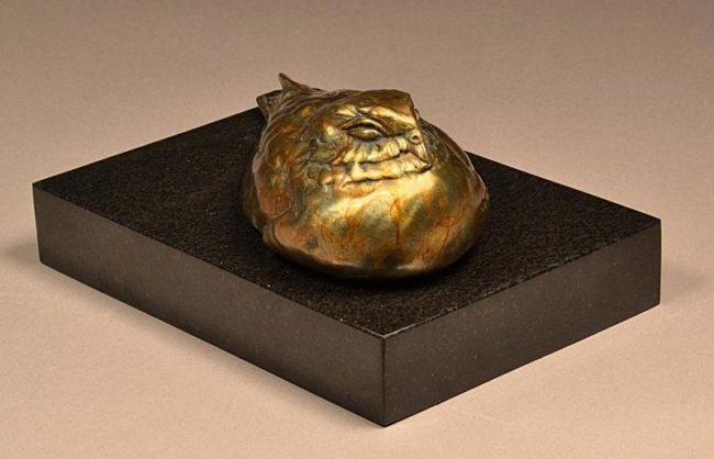 Stefan Savides Sculpture The Sleeping One Bronze