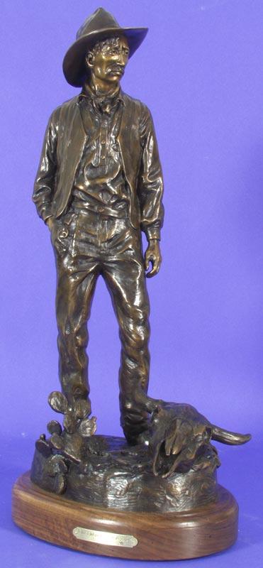 Susan Kliewer Sculpture At Last I Shall Give Myself to the Desert Again (Maynard Dixon) Bronze