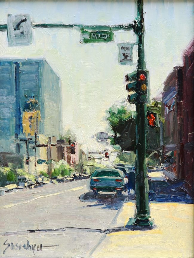Susie Hyer  Broadway At Noon Oil on Linen