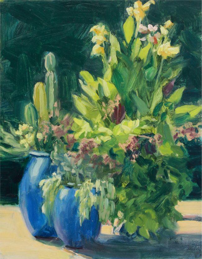 Susie Hyer  Cactus & Cannas Oil on Panel