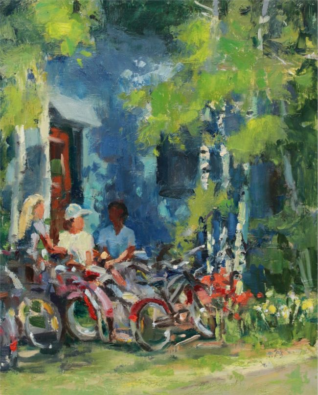 Susie Hyer  Gathering Place Oil on Panel