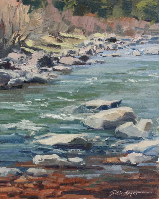 Susie Hyer  Low Flow in May Oil on Panel