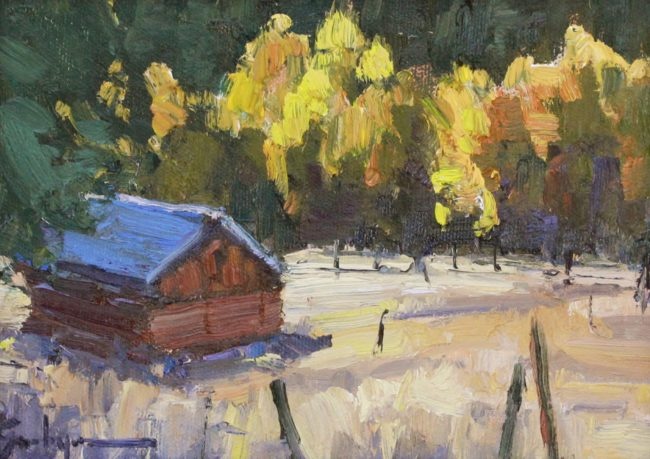 Susie Hyer  Stagecoach Stop Oil on Linen