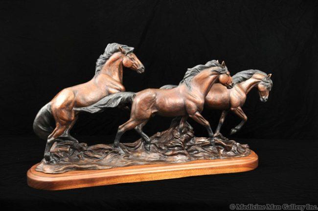 Veryl Goodnight Sculpture The Bachelor Band Bronze