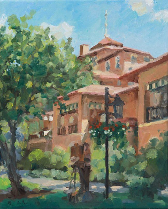 Benjamin Wu Painting Weekend at the Broadmoor Oil on Linen
